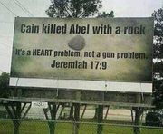Cain Killed Abel With a Rock