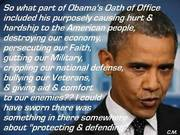 So what part of Obama's oath of office.........