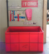 IS corner / Red tag area