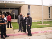 Dr Henry Vazquez with Rabbi Mandell and Bishop from a local church in TX