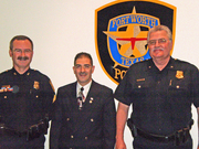 Dr Vazquez with Fort Worth Police Dept Clergy and Police Alliance Police Officers