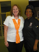 POSING AT STUDENT CHEF BANQUET AT UT Culinary & Catering Program at UT Conferences & Non-Credit Programs.