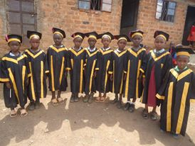 Orphaned children Graduating