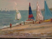 Sailboats in Courtown