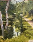 The Canal at Oldbridge 8x10'' on canvas board