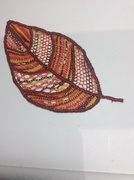 Second needle lace project:  Leaf