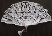 Needle lace fan