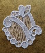 dentelle type Alençon lace