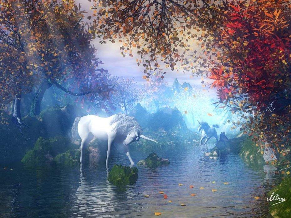 blue-unicorn-nature-scenery