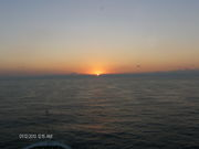 sunset on cruise13