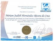 Diploma  Ponente II Congreso de USAC mayo 2016