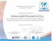 Diploma de participación Congreso USAC mayo 2016-000