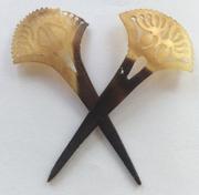 Indonesian Horn Hairpins