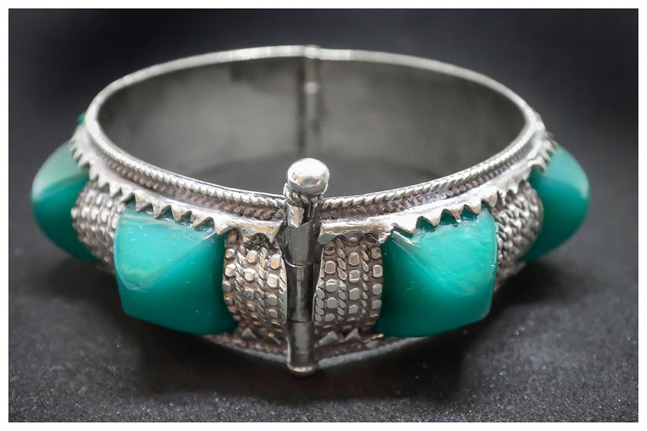 Green stone Bracelet 1