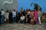 Mayor Tomas Regalado and Participants Artists at LMNT Gallery