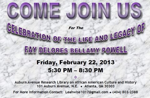 Fay Bellamy Powell Life And Legacy