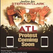 Black Lives Matter:  Justice For Stephon Clark Protest In Atlanta, Ga.