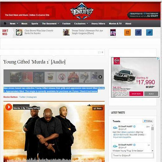 ThatsEnuff.com Featuring Young Gifted