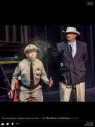 Barney  testing Col. Harvey's Elixir