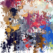 Splatters and drips