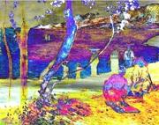 Variations on Gauguin, Martinique Seashore