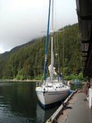 Chelsea In Elfin Cove, Alaska