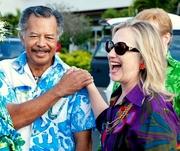 U.S. Secretary of State Hillary Clinton in Rarotonga