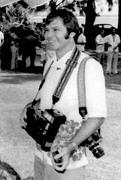 Professional Photographer Bill Johnson on Assignment in Rarotonga March 1974