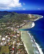 Avarua, Rarotonga, Cook Islands, with airport background