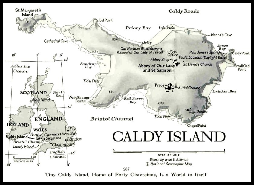 October 1955  Issue  - Caldy Island