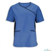 Supreme Blue Wrap Neckline Shirt Manufacturers