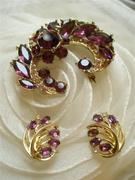 set of brooch and earrings (triffari)
