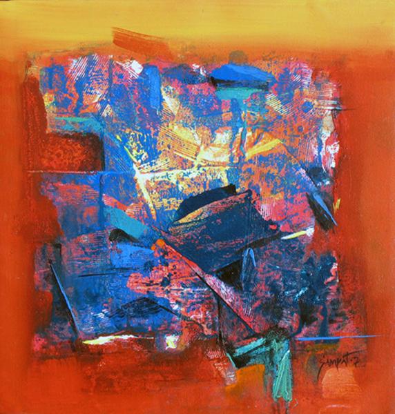 Goa 02 Acrylic on Canvas 16''x16'' 2007