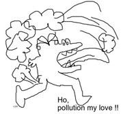 Dessin pollution....