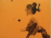 orange blak splat