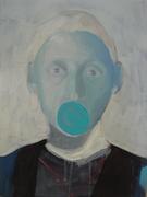 """"""" Retrato azul"""" acrilico s. tela, 2008"""