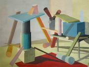 "Silvia Krivosikova,""Looking for equilibrium"", 40x60cm, acril/canvas, 2010"