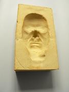 2. 'Concave Self Portrait'  highfired stoneware, 24x17x18 cm, Hans Borgonjon, 2010