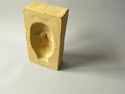 2'Concave Self Portrait' highfired stoneware, 24x17x18 cm, Hans Borgonjon, 2010