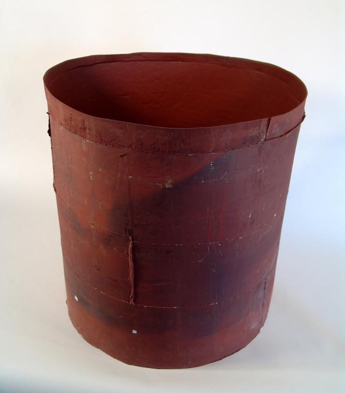 1 'Red Qualia' terracotta, slip, 50 cm dia - 60cm H, 2009