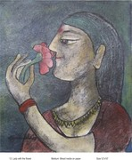13 Lady with  flower