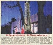 Hersfelder Zeitung Galerie Liebau Burghauen Fulda germany contemporary light art show light artist Christoph Luckeneder light sculptor designer Manfred Kielnhofer