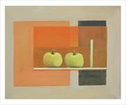 Composition with apples and stick