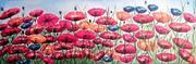 NEL CAMPO (olio su tela 40x100) 2012