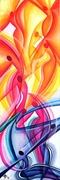 LIBERTA' (olio su tela 120x40) 2013