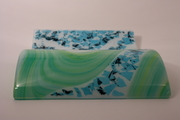 SpringTide Wave Fused glass #2