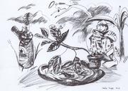 10. Sadat Laope_ It's Better to Work Hard_2013_Pen on Paper_15cm x 21 cm