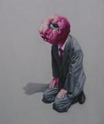 """""""外星人""""系列31号.布面油画。120x90cm。2010年"""