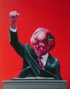 """""""外星人""""系列30号.布面油画。100x80cm。2010年"""