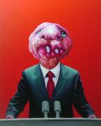 """""""外星人""""系列29号.布面油画。100x80cm。2010年"""